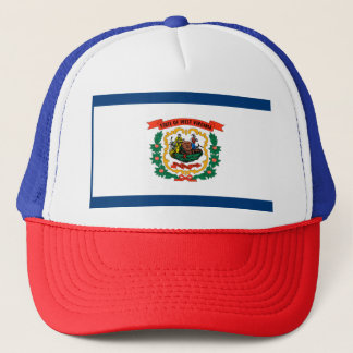 West Virginia Flag Trucker Hat