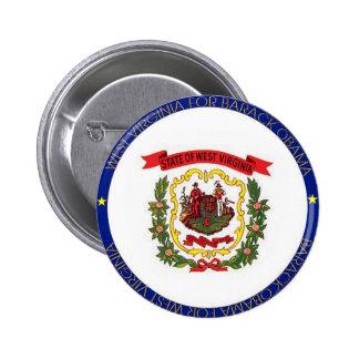 WEST VIRGINIA FOR BARACK OBAMA Button