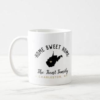 West Virginia Home Sweet Home Family Monogram Mug