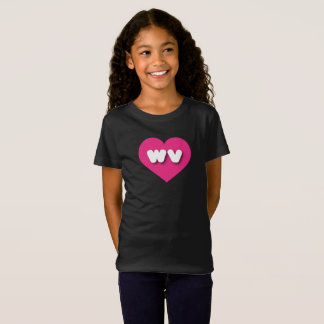 West Virginia hot pink heart - mini love T-Shirt