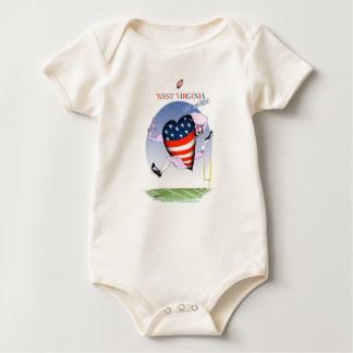 west virginia loud and proud, tony fernandes baby bodysuit