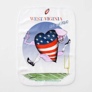 west virginia loud and proud, tony fernandes baby burp cloths