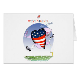west virginia loud and proud, tony fernandes card