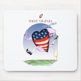 west virginia loud and proud, tony fernandes mouse pad