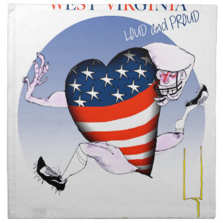 west virginia loud and proud, tony fernandes napkin