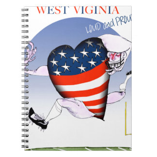 west virginia loud and proud, tony fernandes notebooks
