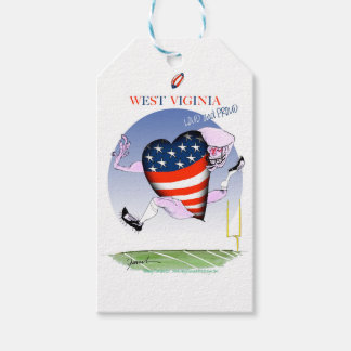west virginia loud and proud, tony fernandes pack of gift tags