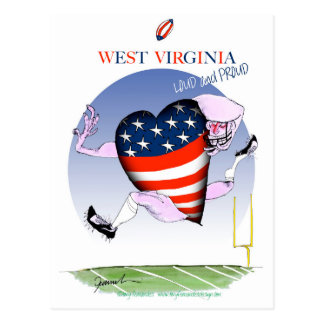 west virginia loud and proud, tony fernandes postcard