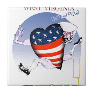 west virginia loud and proud, tony fernandes tile