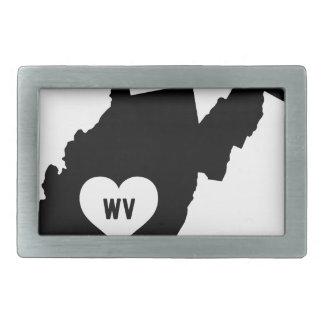 West Virginia Love Belt Buckles