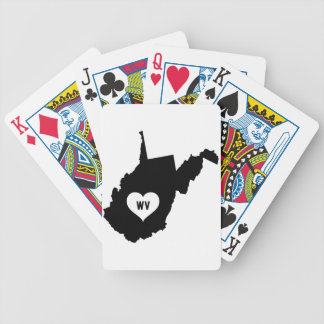 West Virginia Love Bicycle Playing Cards