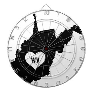 West Virginia Love Dartboard
