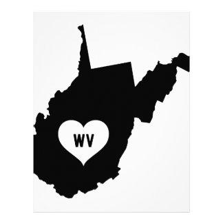 West Virginia Love Letterhead