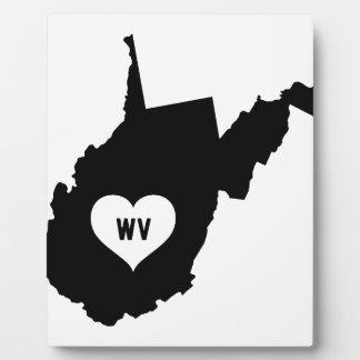 West Virginia Love Plaque