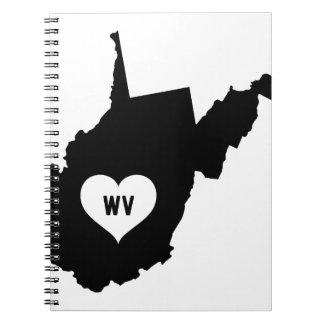 West Virginia Love Spiral Notebook