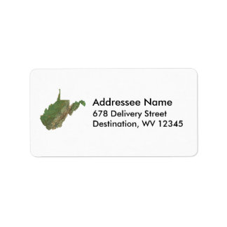 West Virginia Map Address Label