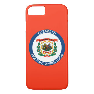 West Virginia Mountain State Personalized Flag iPhone 7 Case