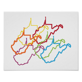west virginia pride blur poster
