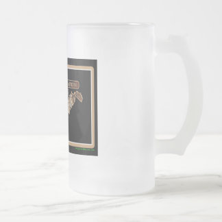 West Virginia Rig Up Camo Frosted Glass Beer Mug