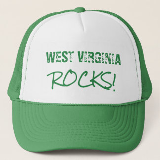 WEST VIRGINIA Rocks Words Green Hat