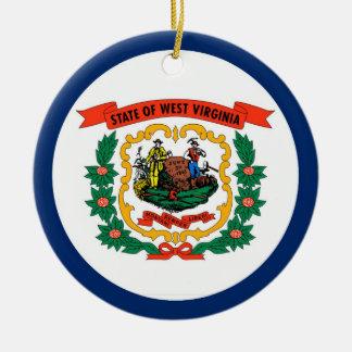 West Virginia State Flag Ceramic Ornament