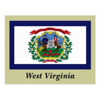 West Virginia State Flag Postcard
