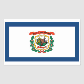West Virginia State Flag Sticker - 4 per sheet