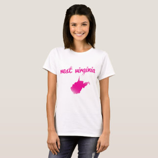 West virginia state in pink T-Shirt