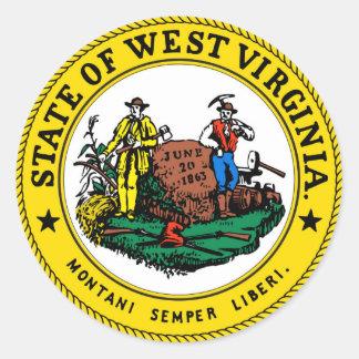 West Virginia state seal.jpg Classic Round Sticker