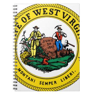 West Virginia state seal.jpg Spiral Notebook