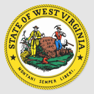 West Virginia State Seal Stickers