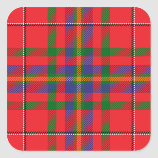 West_Virginia_state_tartan Square Sticker
