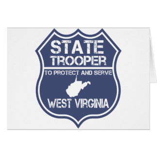 West Virginia State Trooper Protect And Serve Card