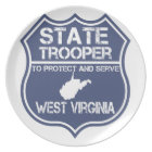 West Virginia State Trooper Protect And Serve Plate