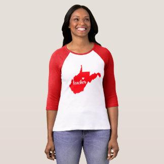 West Virginia Teacher Tshirt (Red)