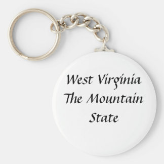 West Virginia The Mountain State Keychain