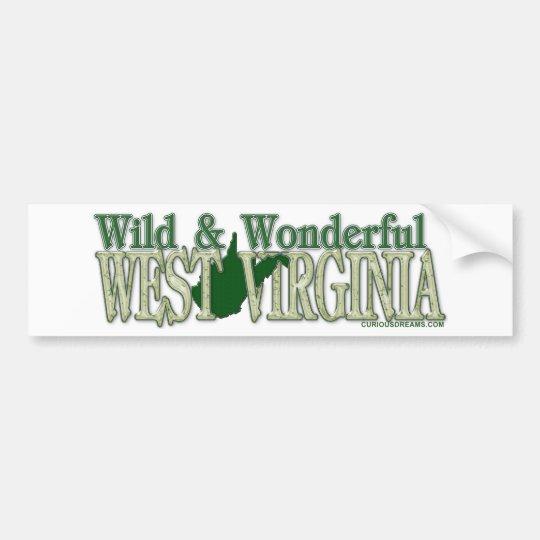 West Virginia Wild and Wonderful_2 Bumper Sticker