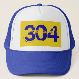 West Virginia WV  304 Trucker Cap Hat