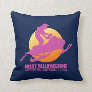 West Yellowstone (SM)2 Throw Pillow