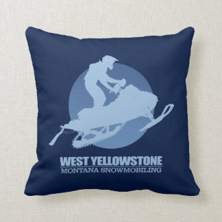 West Yellowstone (SM) Throw Pillow