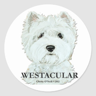 Westacular West Highland White Terrier Classic Round Sticker