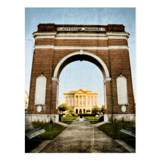 Westbank Jefferson Memorial in New Orleans Postcard