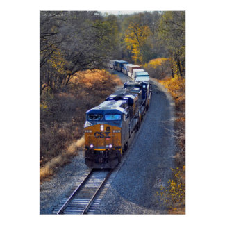 Westbound Container Train at Beaver Falls Poster