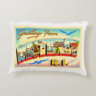 Westerly Rhode Island RI Vintage Travel Souvenir Decorative Pillow