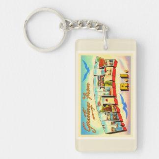 Westerly Rhode Island RI Vintage Travel Souvenir Double-Sided Rectangular Acrylic Keychain
