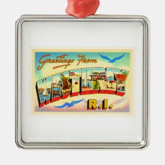 Westerly Rhode Island RI Vintage Travel Souvenir Metal Ornament