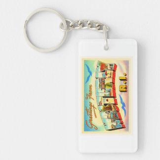 Westerly Rhode Island RI Vintage Travel Souvenir Single-Sided Rectangular Acrylic Keychain