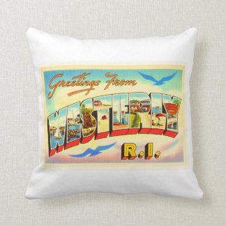 Westerly Rhode Island RI Vintage Travel Souvenir Throw Pillow