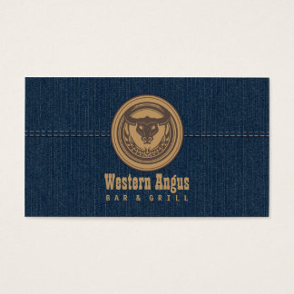 Western Angus Bar & Grill Restaurant Business Card