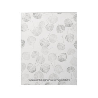 Western Aspen Leaves Personalized Notepad